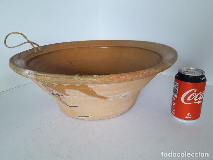 LEBRILLO LAÑADO DE BARRO VITRIFICADO (Antigüedades - Técnicas - Rústicas - Utensilios del Hogar)