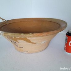 Antigüedades: LEBRILLO LAÑADO DE BARRO VITRIFICADO. Lote 140781690