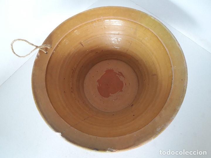 Antigüedades: LEBRILLO LAÑADO DE BARRO VITRIFICADO - Foto 2 - 140781690