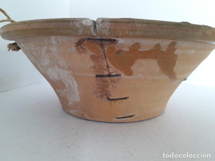 Antigüedades: LEBRILLO LAÑADO DE BARRO VITRIFICADO - Foto 3 - 140781690