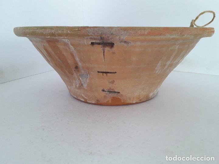 Antigüedades: LEBRILLO LAÑADO DE BARRO VITRIFICADO - Foto 4 - 140781690