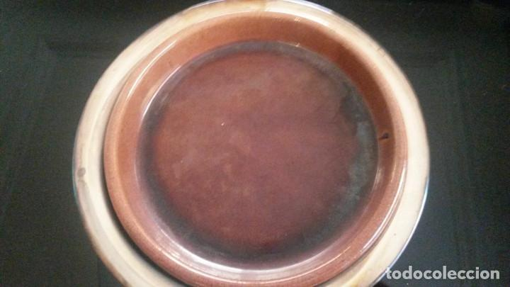 Antigüedades: FUENTE DE SERVIR CON CAZUELA INTERIOR DE BARRO. BAÑADA EN PLATA (II) - Foto 2 - 140785742