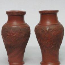 Antigüedades: ANTIGUA PAREJA DE JARRONES CHINOS. PPIOS. SIGLO XX. Lote 140789778