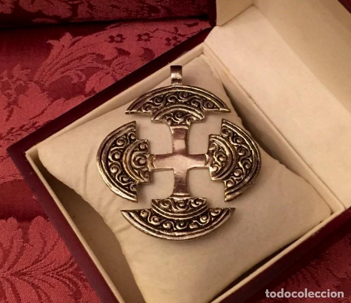 Antigüedades: GRAN CRUZ CELTA DE ALPACA - 29 GRAMOS. - Foto 2 - 140791278