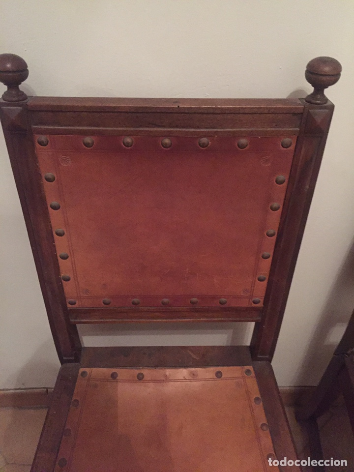 Antigüedades: 3 antiguas sillas mallorquinas - Foto 2 - 140796260