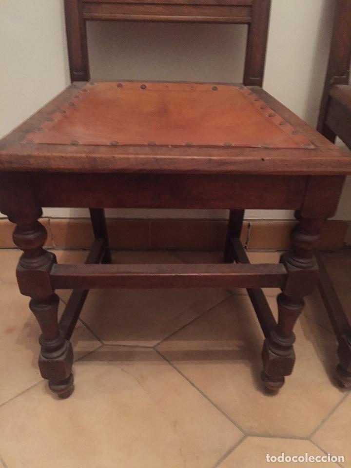 Antigüedades: 3 antiguas sillas mallorquinas - Foto 3 - 140796260