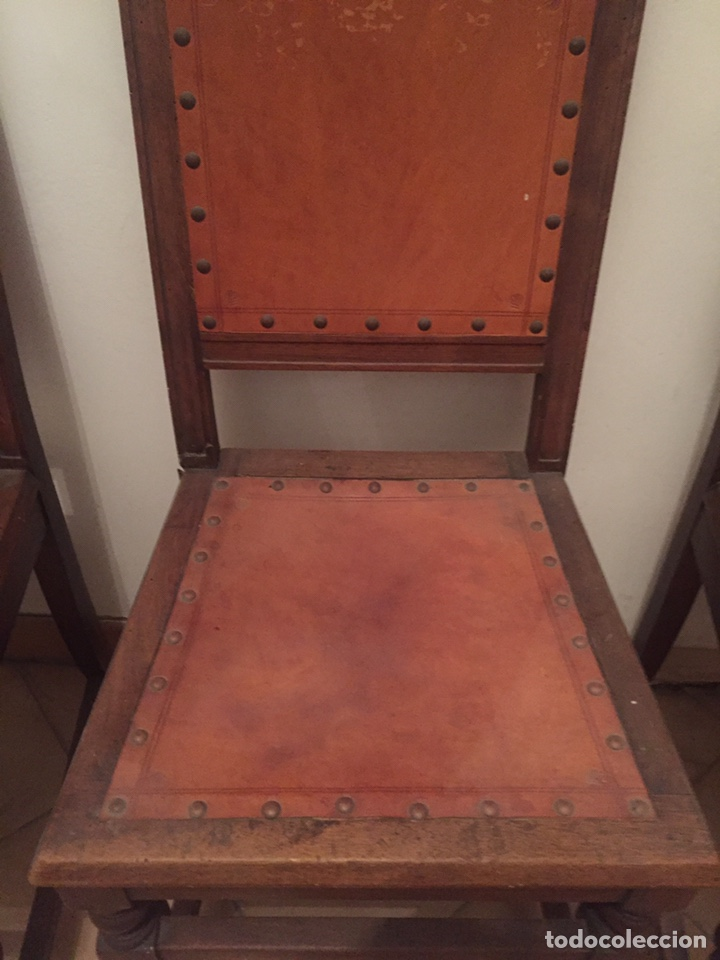 Antigüedades: 3 antiguas sillas mallorquinas - Foto 4 - 140796260