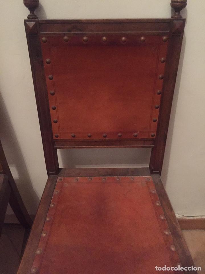 Antigüedades: 3 antiguas sillas mallorquinas - Foto 7 - 140796260