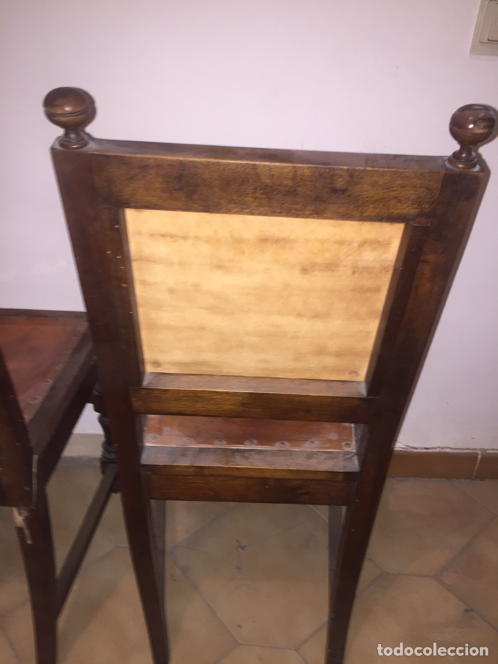 Antigüedades: 3 antiguas sillas mallorquinas - Foto 15 - 140796260
