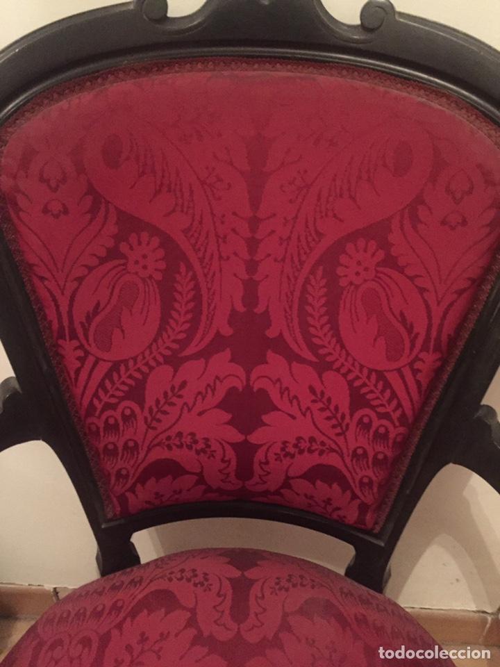 Antigüedades: Antigua silla partera mallorquina y reposapies - Foto 5 - 140796682