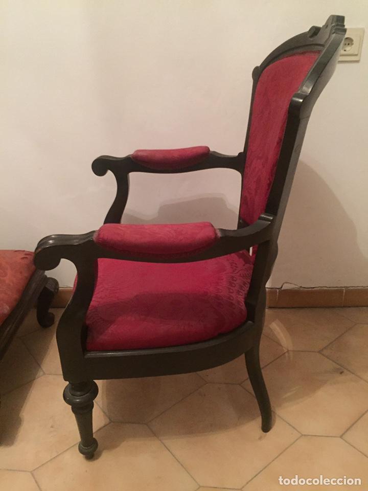 Antigüedades: Antigua silla partera mallorquina y reposapies - Foto 9 - 140796682