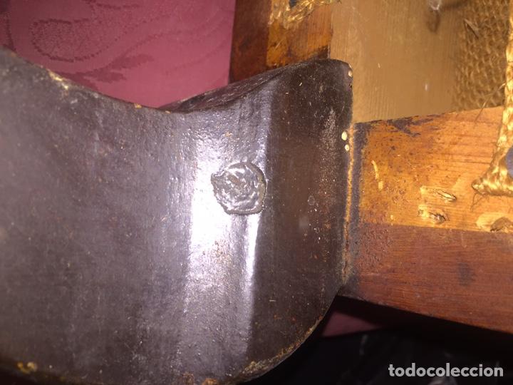 Antigüedades: Antigua silla partera mallorquina y reposapies - Foto 11 - 140796682
