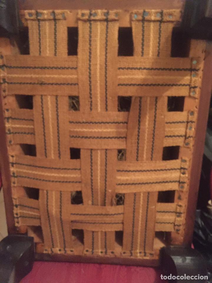 Antigüedades: Antigua silla partera mallorquina y reposapies - Foto 13 - 140796682