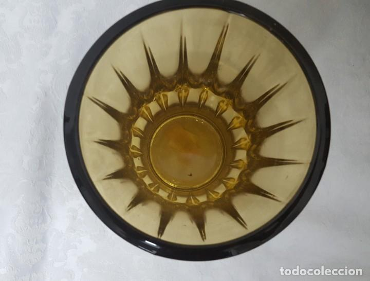 Antigüedades: JARRÓN DE CRISTAL ÁMBAR ART DECÓ - Foto 6 - 146683584