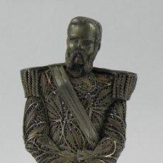 Antigüedades: EXPECTACULAR FIGURA DE FILIGRANA DE PLATA DE ALEJANDRO II DE RUSIA, FINALES DEL SIGLO XIX, PUNZON CT. Lote 140863182