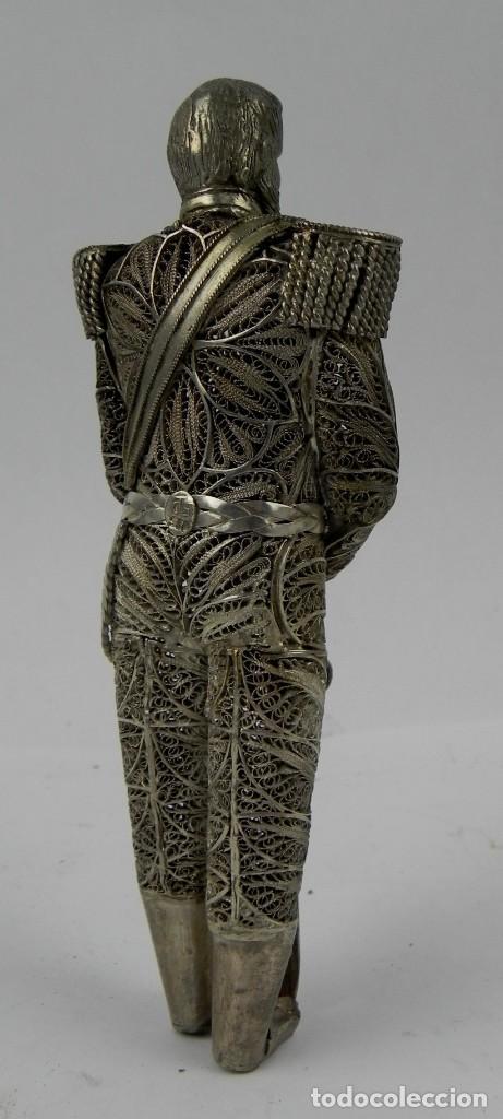 Antigüedades: EXPECTACULAR FIGURA DE FILIGRANA DE PLATA DE ALEJANDRO II DE RUSIA, FINALES DEL SIGLO XIX, PUNZON CT - Foto 2 - 140863182