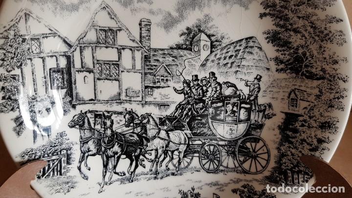 Antigüedades: PLATO DE PORCELANA SAN CLAUDIO / DILIGENCIA / PLATO HONDO / 20 CM Ø / PERFECTO. - Foto 2 - 140871890