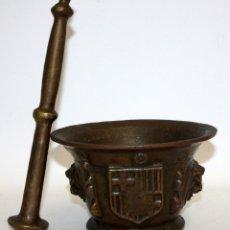 Antigüedades: ESPECTACULAR ALMIREZ CATALAN CON ESCUDO DE BARCELONA. FINALES SIGLO XVIII, PRINCIPIOS SIGLO XIX. Lote 140880794