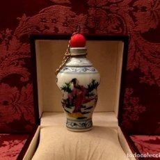 Antigüedades: PERFUMERO PORCELANA CHINA CON ESCENA EROTICA EN INTERIOR.. Lote 140885738