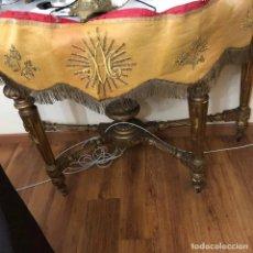 Antigüedades: FRONTAL EN TISU Y BORDADOS EN ORO. Lote 149773934