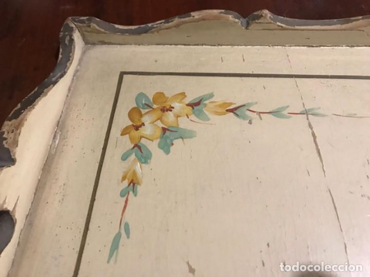 Antigüedades: Antigua bandeja 45,5 x 31,5cm - Foto 5 - 140886854