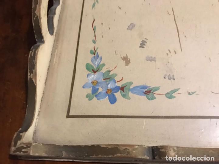 Antigüedades: Antigua bandeja 45,5 x 31,5cm - Foto 6 - 140886854