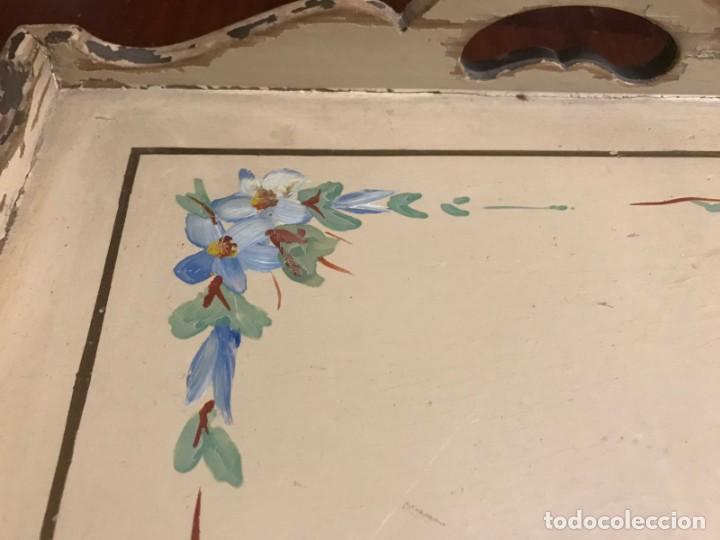 Antigüedades: Antigua bandeja 45,5 x 31,5cm - Foto 8 - 140886854