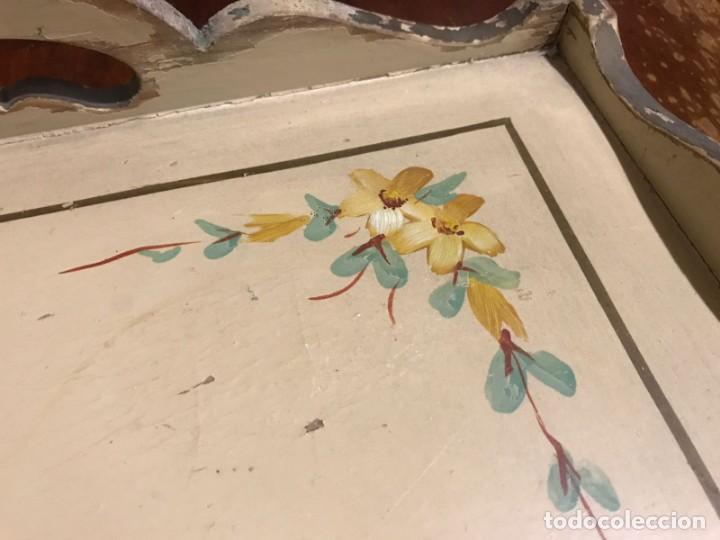 Antigüedades: Antigua bandeja 45,5 x 31,5cm - Foto 9 - 140886854
