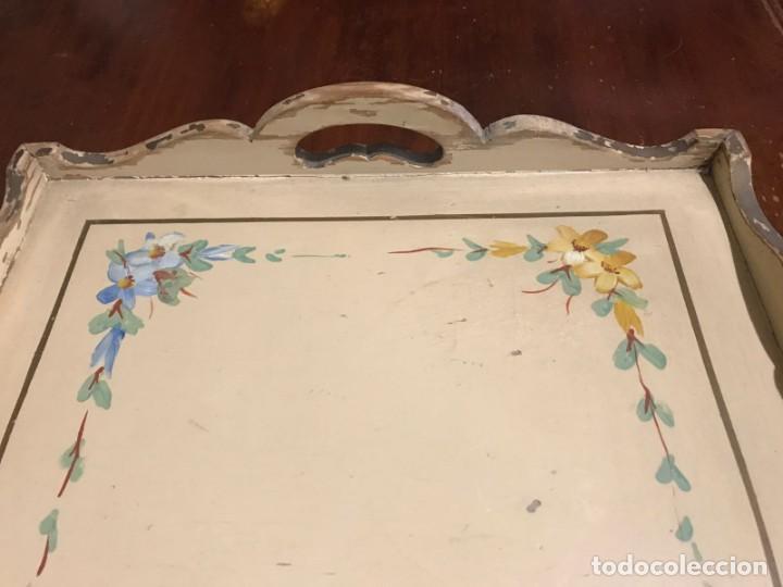 Antigüedades: Antigua bandeja 45,5 x 31,5cm - Foto 10 - 140886854