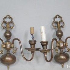 Antigüedades: PAREJA DE APLIQUES. Lote 140887606