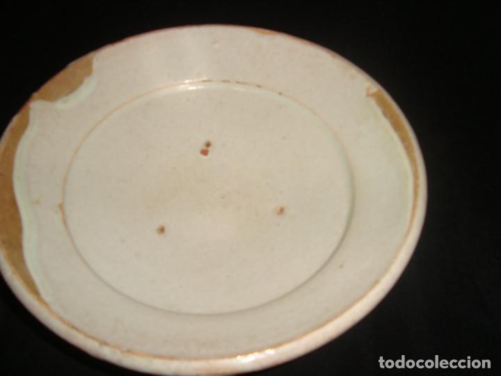 PLATO CUENCO RÚSTICO DE CERAMICA VIDRIADA (Antigüedades - Porcelanas y Cerámicas - Teruel)