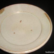 Antigüedades: PLATO CUENCO RÚSTICO DE CERAMICA VIDRIADA. Lote 140899142