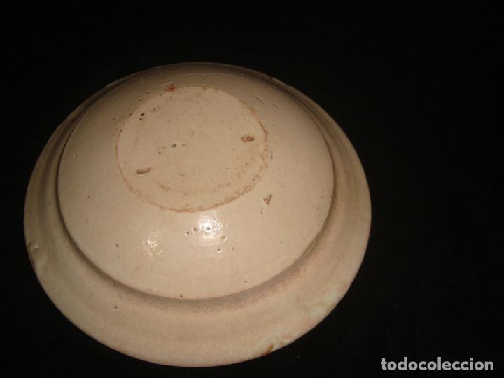 Antigüedades: PLATO CUENCO RÚSTICO DE CERAMICA VIDRIADA - Foto 3 - 140899142