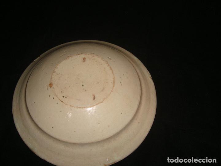 Antigüedades: PLATO CUENCO RÚSTICO DE CERAMICA VIDRIADA - Foto 4 - 140899142