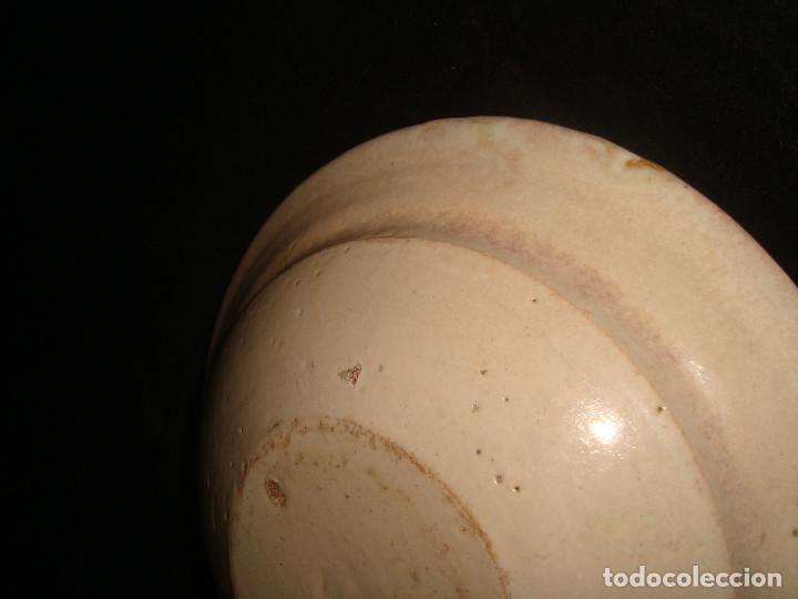 Antigüedades: PLATO CUENCO RÚSTICO DE CERAMICA VIDRIADA - Foto 6 - 140899142