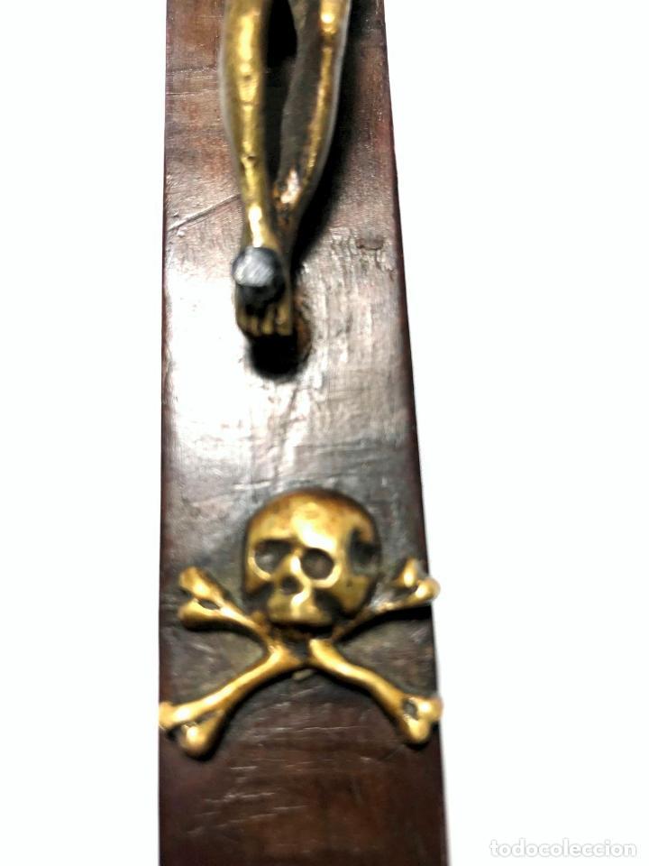 Antigüedades: CRUZ RELICARIO MADERA - BRONCE - RELIQUIAS - S. XVII - XVIII - Foto 7 - 140902006