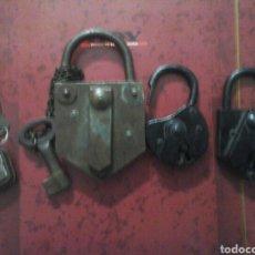 Antigüedades: ANTIGUOS CANDADOS. Lote 140945012