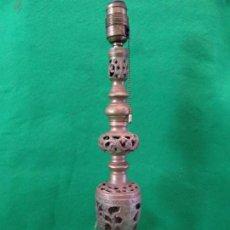 Antigüedades: ANTIGUA LAMPARA DE BRONCE . Lote 140951378