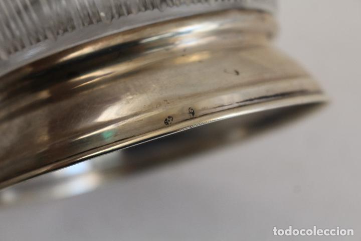 Antigüedades: frutero centro de mesa en cristal y plata de ley 925milesimas - Foto 2 - 140968870