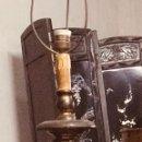 Antigüedades: TORCHERO DE MADERA.. Lote 140974926