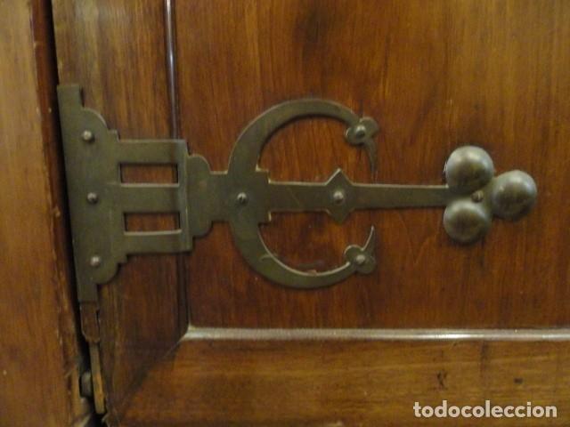Antigüedades: MUEBLE MODERNISTA ESCRITORIO NOGAL - Foto 7 - 140986322