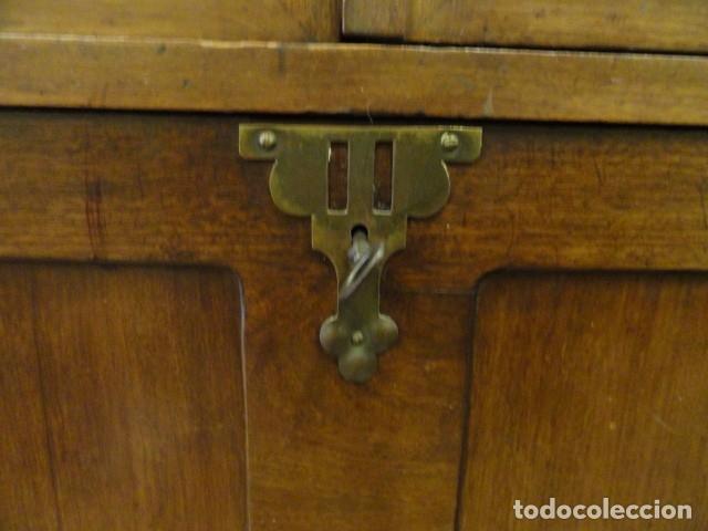 Antigüedades: MUEBLE MODERNISTA ESCRITORIO NOGAL - Foto 9 - 140986322
