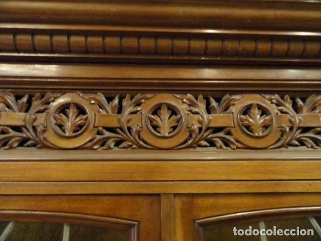Antigüedades: MUEBLE MODERNISTA ESCRITORIO NOGAL - Foto 12 - 140986322