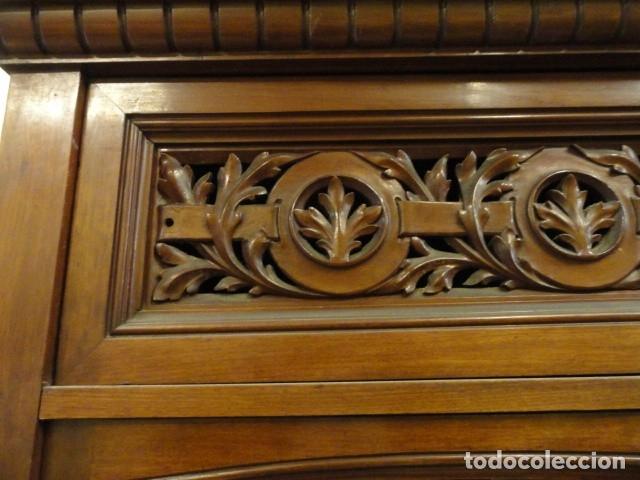 Antigüedades: MUEBLE MODERNISTA ESCRITORIO NOGAL - Foto 13 - 140986322