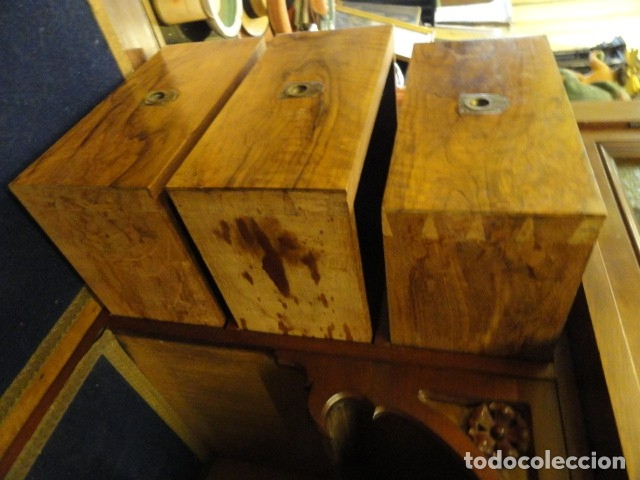 Antigüedades: MUEBLE MODERNISTA ESCRITORIO NOGAL - Foto 25 - 140986322