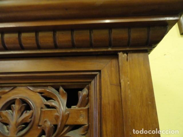 Antigüedades: MUEBLE MODERNISTA ESCRITORIO NOGAL - Foto 31 - 140986322