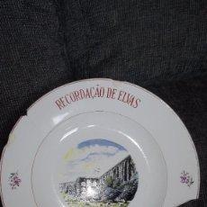 Antigüedades: PLATO DE PORCELANA.ELVAS.PORTUGAL.ANTIGUO. Lote 141020514