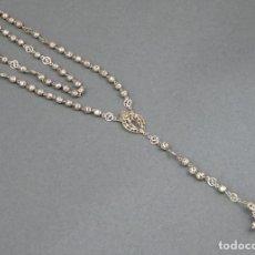 Antigüedades: ROSARIO EN FILIGRANA DE PLATA SIGLO XIX. Lote 141056738