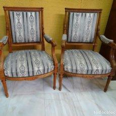 Antigüedades: PAREJA DE SILLONES INICIO DE 1900. REF 6298. Lote 141123618