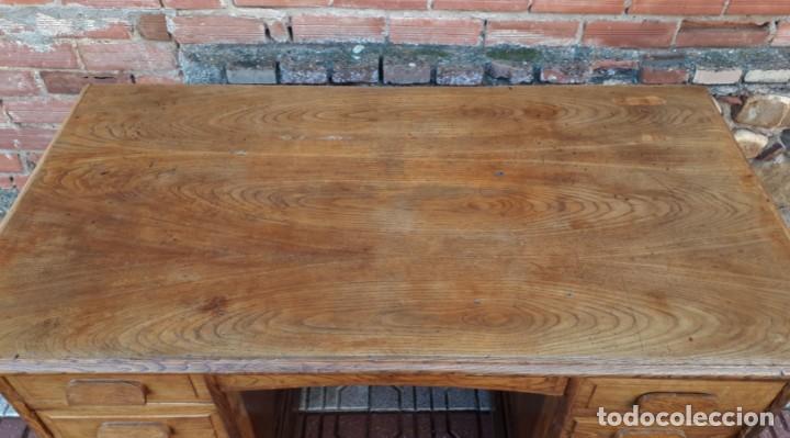 Antigüedades: Escritorio americano de roble. Mesa de despacho antigua estilo americano. Escritorio antiguo - Foto 6 - 141136634